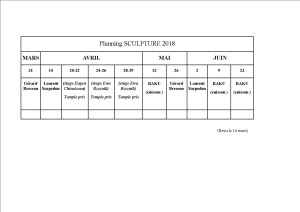PLANNING REVU 16 MARS 2018