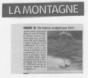 LE HERON ARTICLE LA MONTAGNE 001